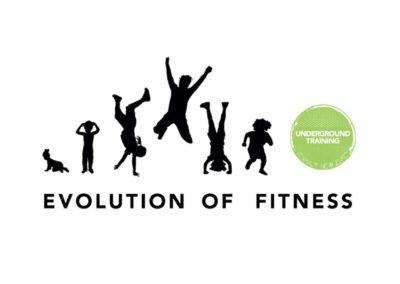 Underground Training Evolution of Fitness Logo