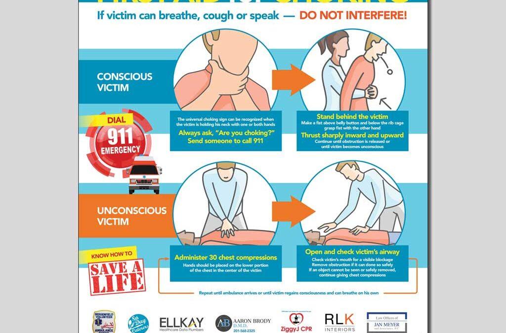 Volunteer Ambulance Choking Infographic